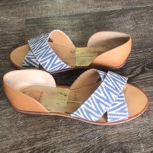 Dolce vita slip on sandal flats sz 8 1/2-9